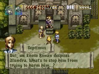 alundra dialogue gameplay on playstation 1 screenshot