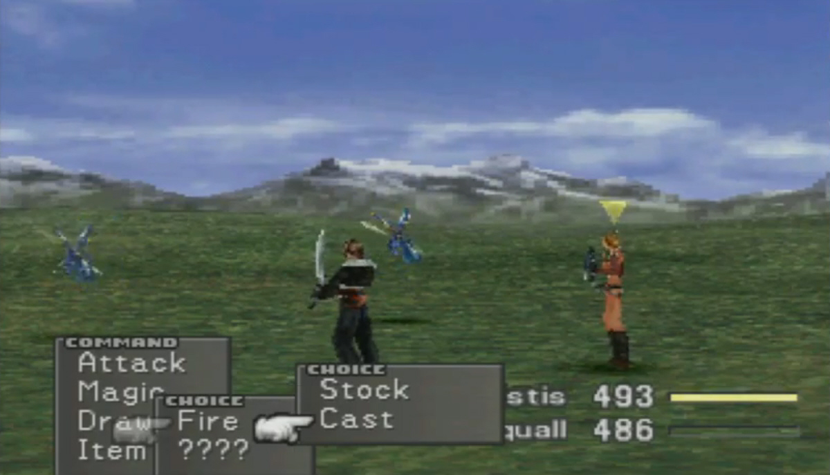 JRPG Final Fantasy VIII screenshot