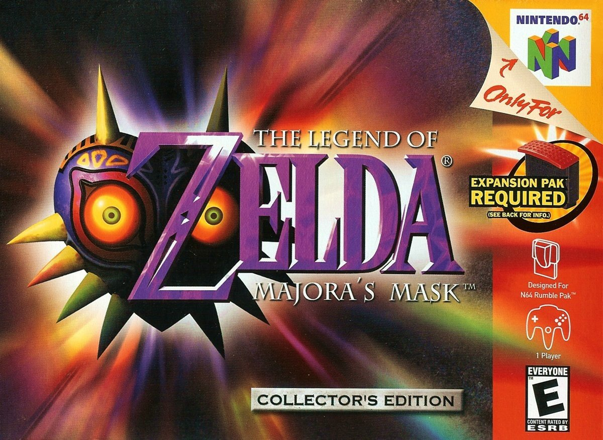 Legend of Zelda Majoras Mask Box Art
