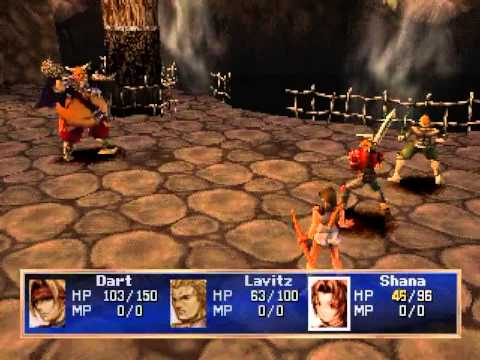 legend of dragoon ps1 combat gameplay screenshot