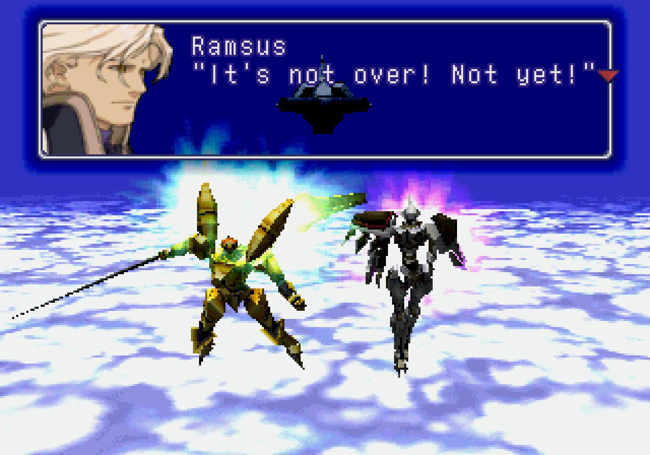 xenogears gears battle dialogue screenshot