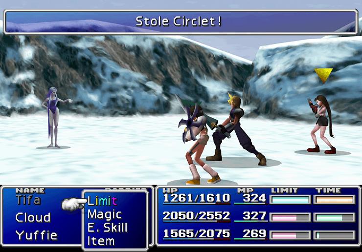 FF7 battle screenshot