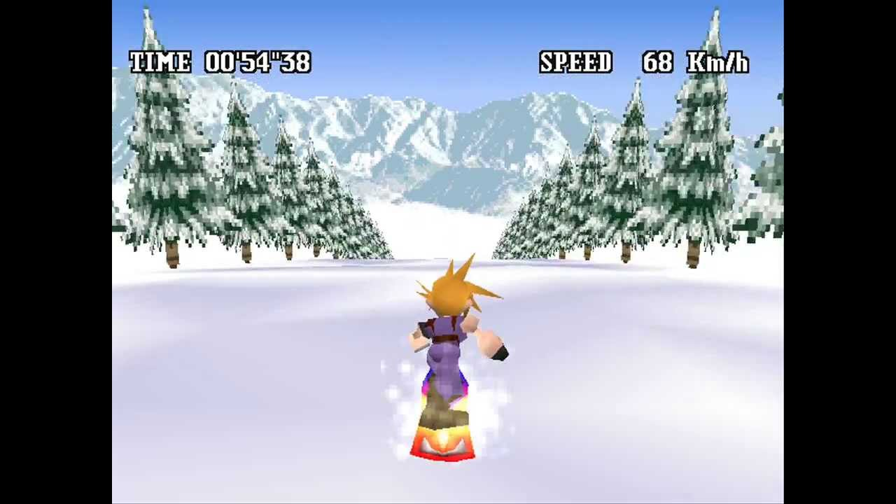 cloud snowboarding screenshot ff7