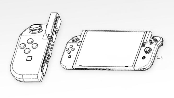 hinged nintendo switch joy con patent image