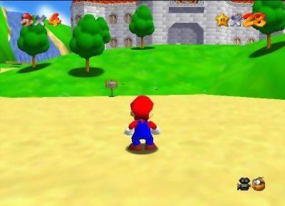 mario 64 screenshot