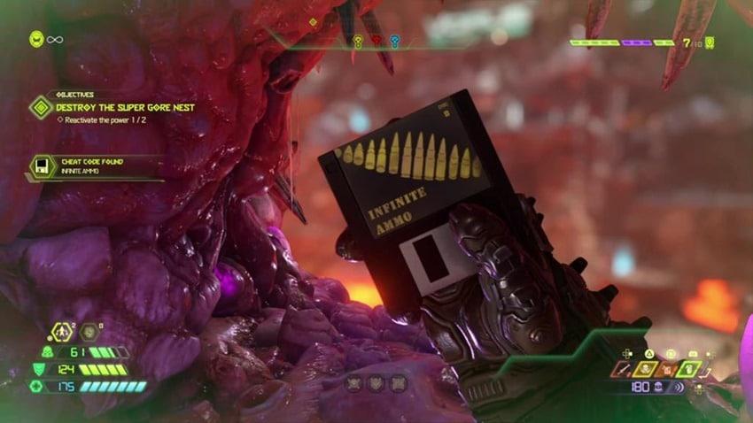 doom eternal cheat code disc screenshot