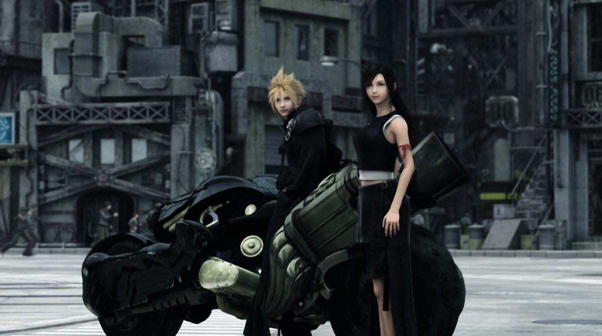 cloud and tifa screenshot final fantasy