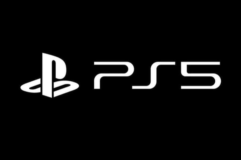 ps5 logo black and white