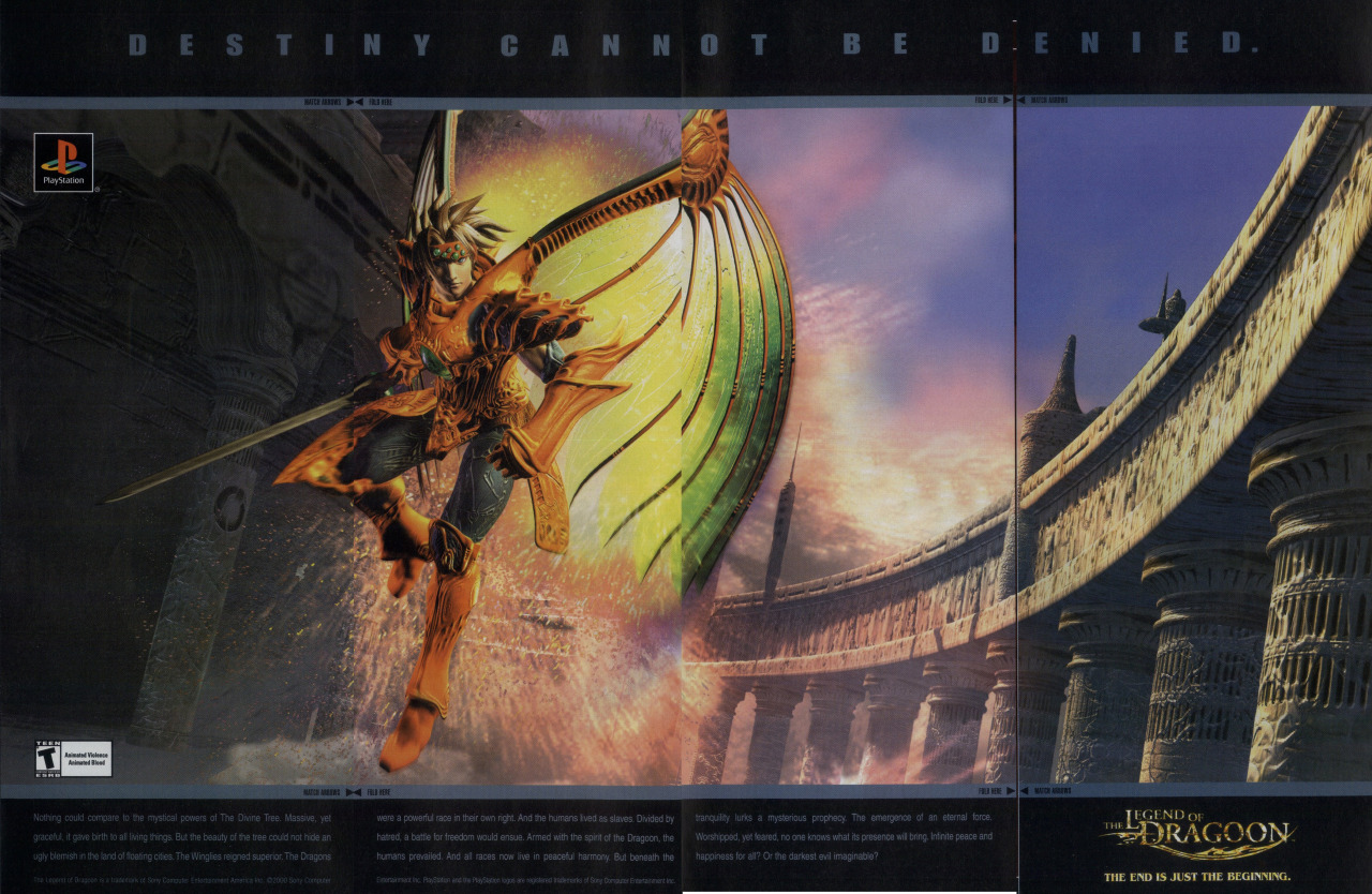 Magazine ad The Legend of Dragoon