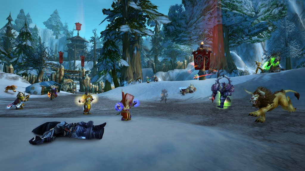 World of Warcraft snow