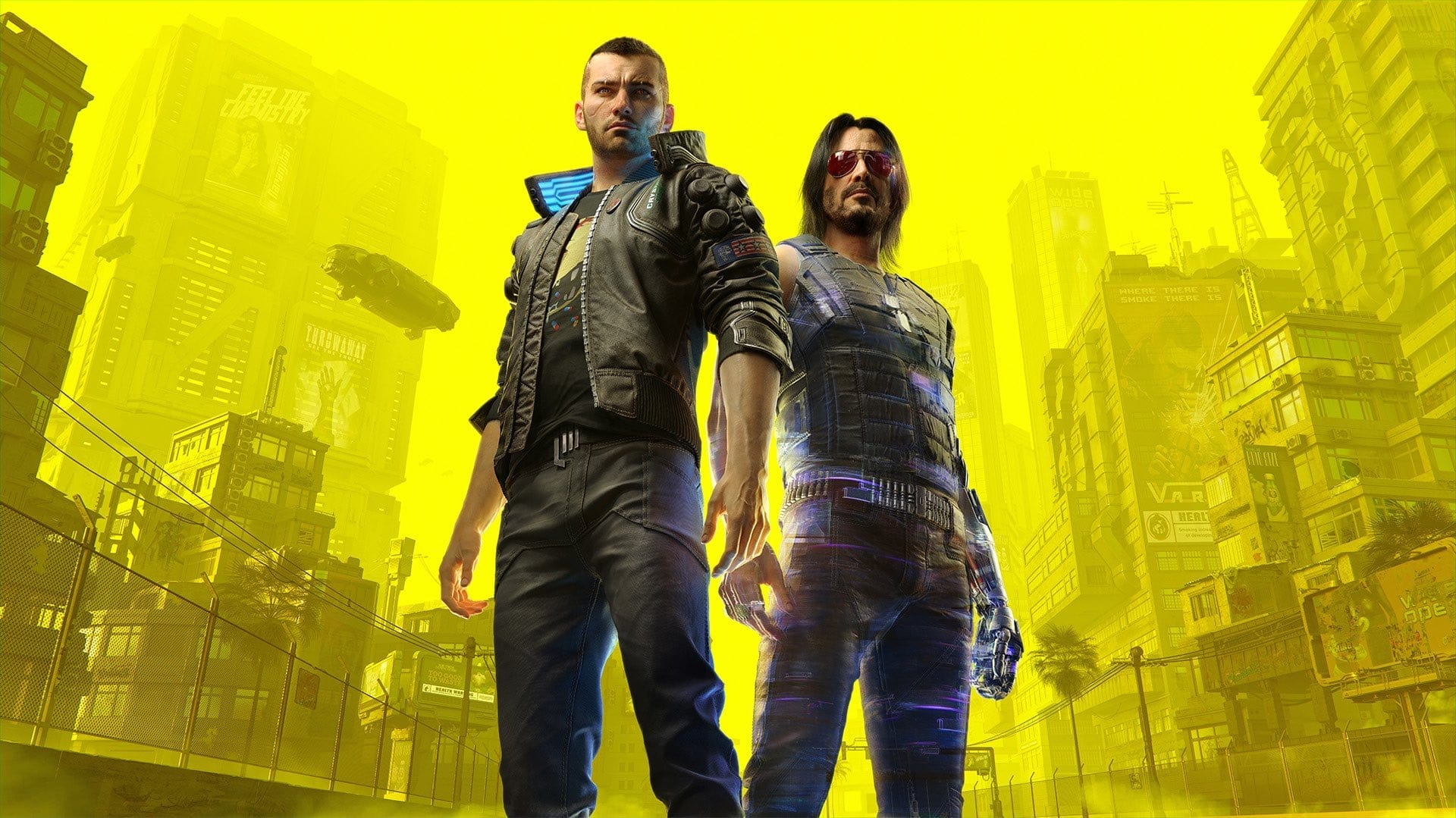 Cyberpunk 2077 Male Character and Keanu Reeves