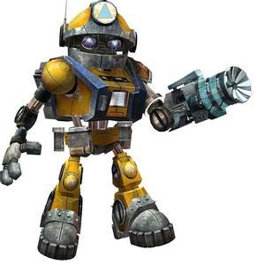 robot character bassu borrato