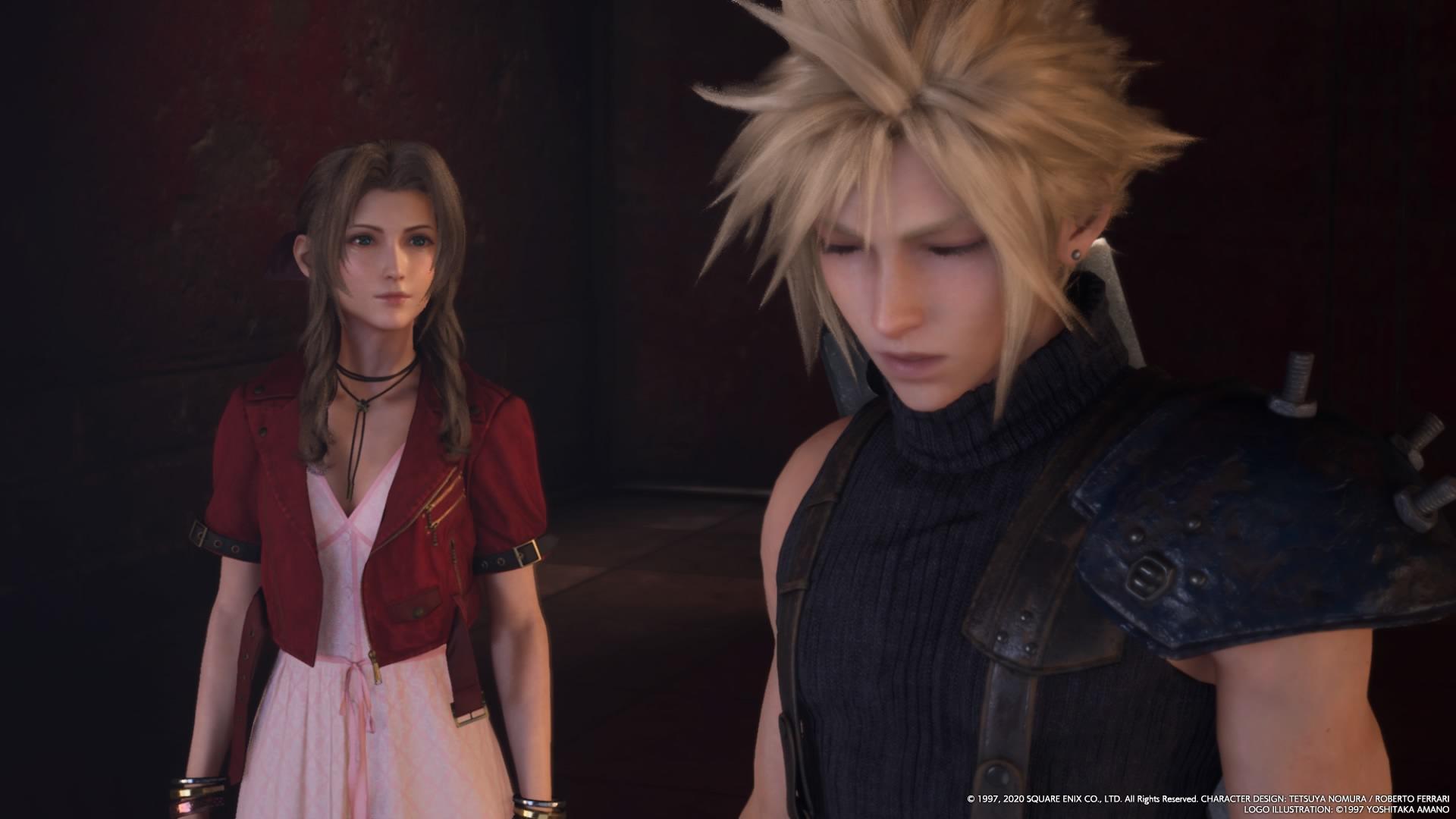 Final Fantasy VII Remake Cloud and Aerith 2