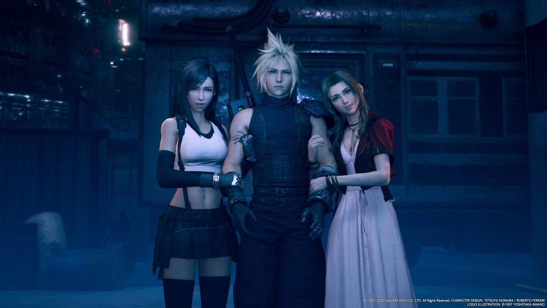 Aerith, Cloud, and Tifa