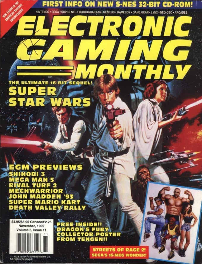 Electronic Gaming Monthly SNES Star Wars Cover Video Games