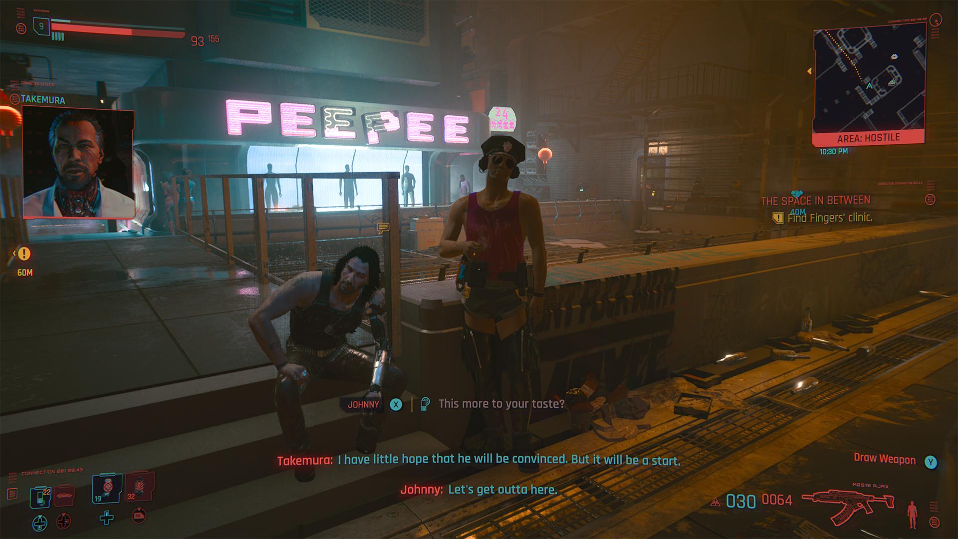 cyberpunk 2077 gameplay johnny silverhand gay cop