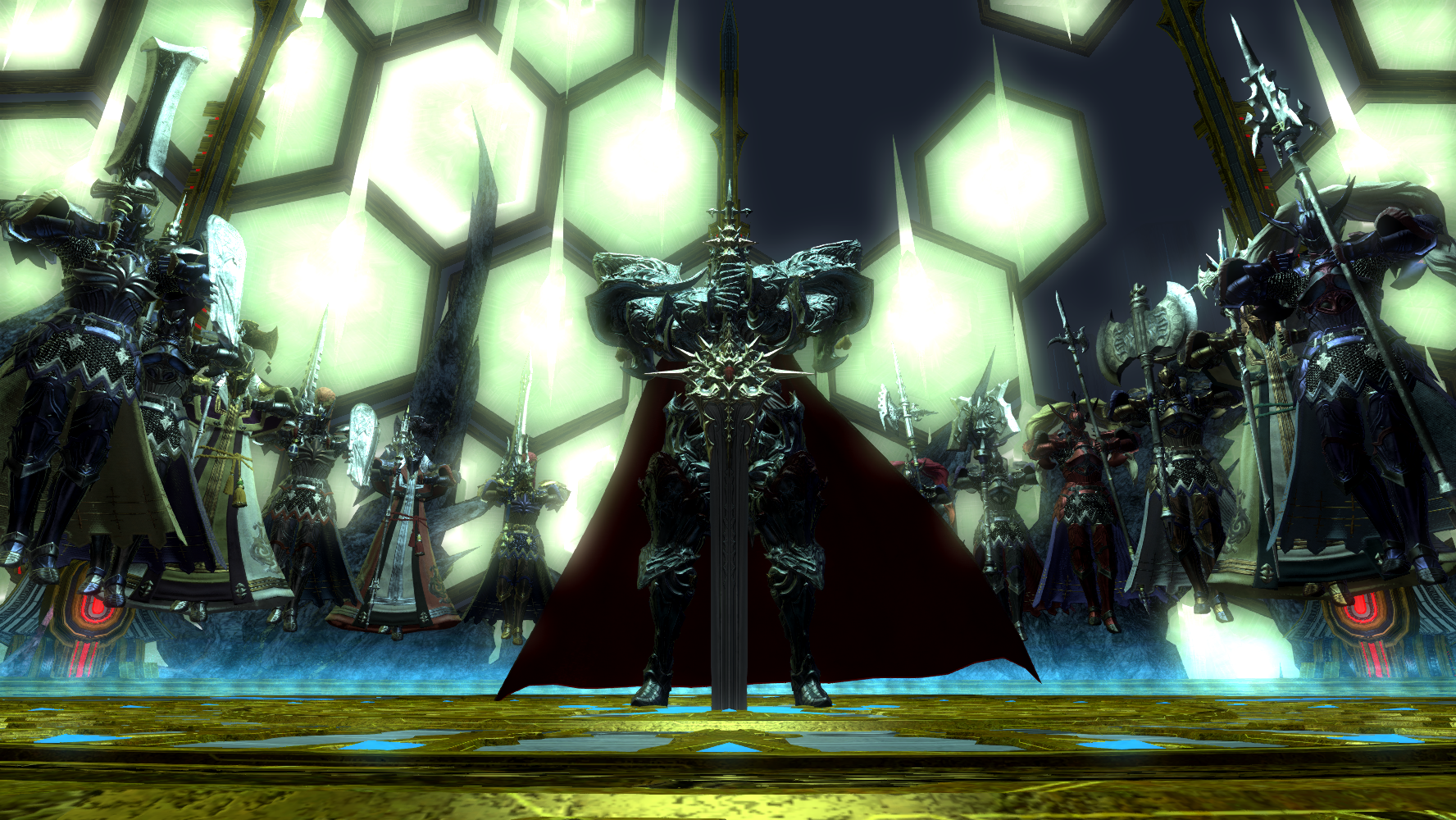 Knights of the Round Summon Ultimate End sequence Final Fantasy XIV