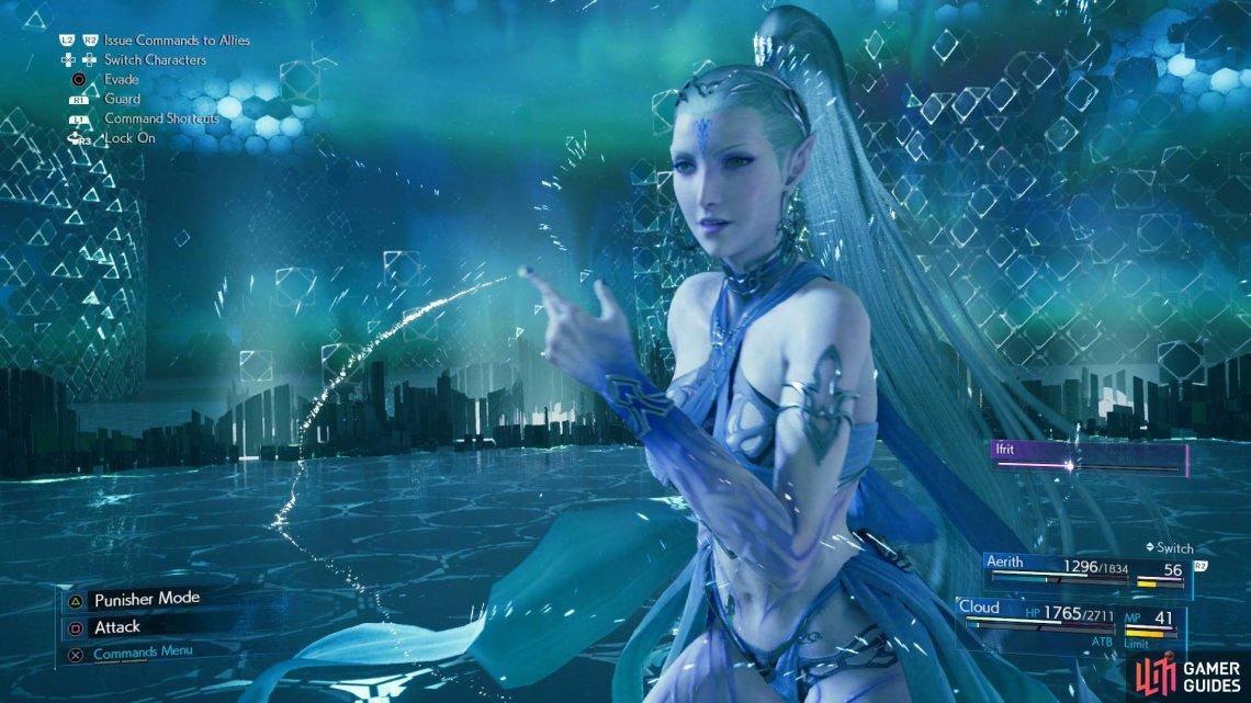 Shiva summon sequence from Final Fantasy XV