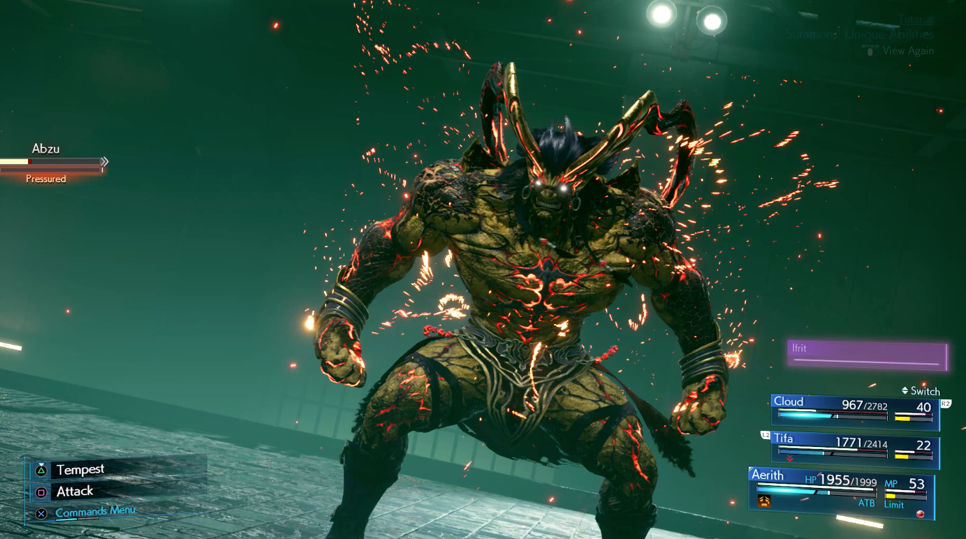Ifrit summon sequence Final Fantasy VII Remake