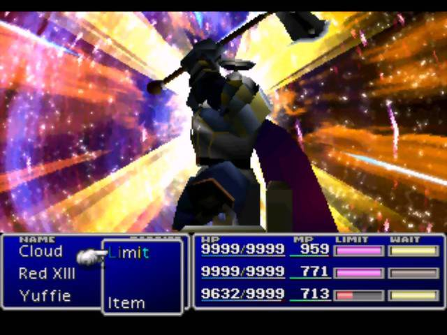 Knights of the Round summon screenshot Final Fantasy VII