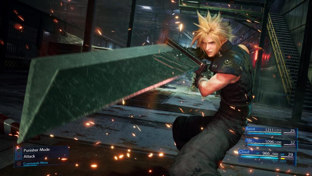 Cloud from Final Fantasy VII JRPG Heroes