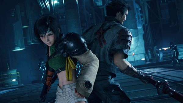 Depicts Yuffie with Avalanche member Sonon Kusakuby Final Fantasy VII Remake Intergrade