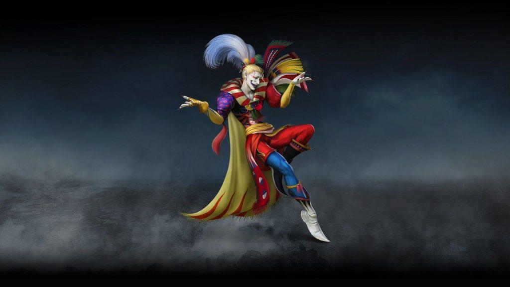 shows Kefka from Final Fantasy VI