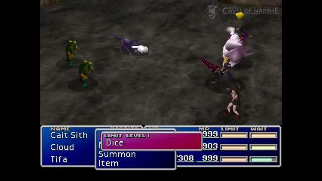 Cait Sith Limit Breaks Final Fantasy VII