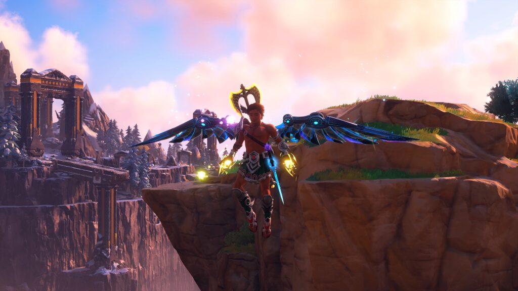 Fenyx from Immortals Fenyx Rising gliding down