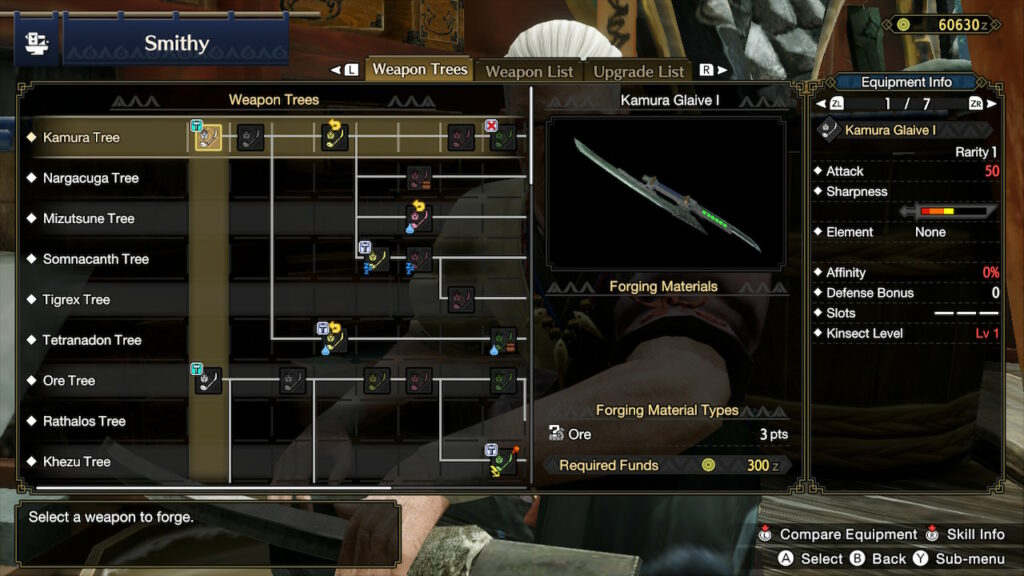 Crafting Weapons