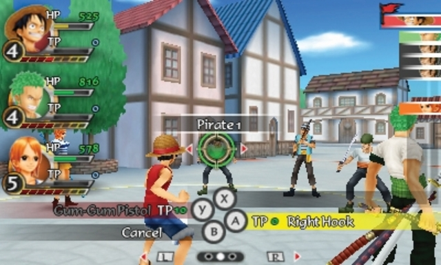 One Piece Romance Dawn for PSP and 3DS JRPG