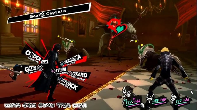 A battle in Persona 5