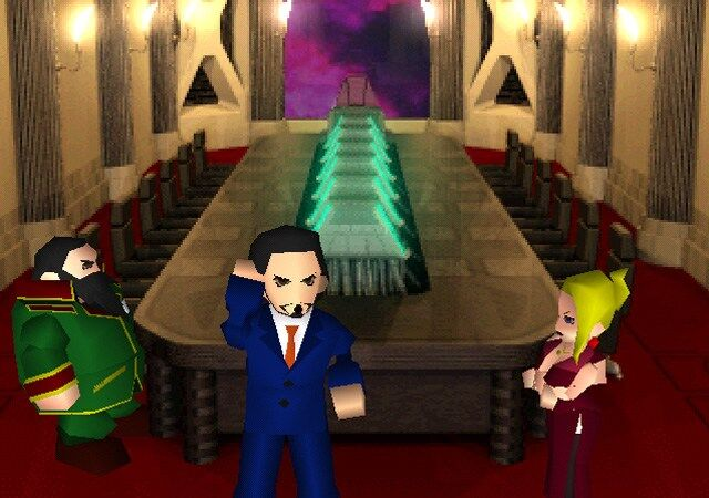 Reeve in Shinra Headquarters Final Fantasy VII