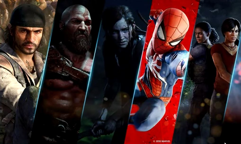 Sony exclusives Days Gone, God of War, Last of Us, Spider-Man, Uncharted