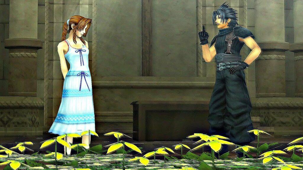 Aerith and Zack Crisis Core Final Fantasy VII