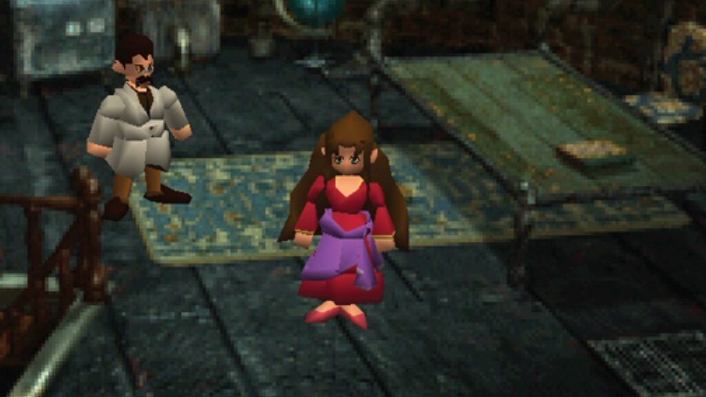Aerith's parents Gast and Ifalna in Final Fantasy VII