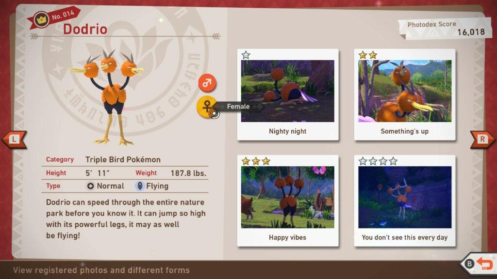 New Pokemon Snap Photodex