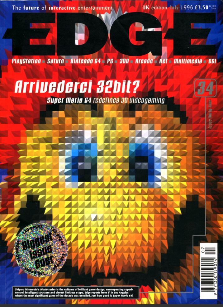 Nintendo 64 Mario 64 Mag Edge Cover