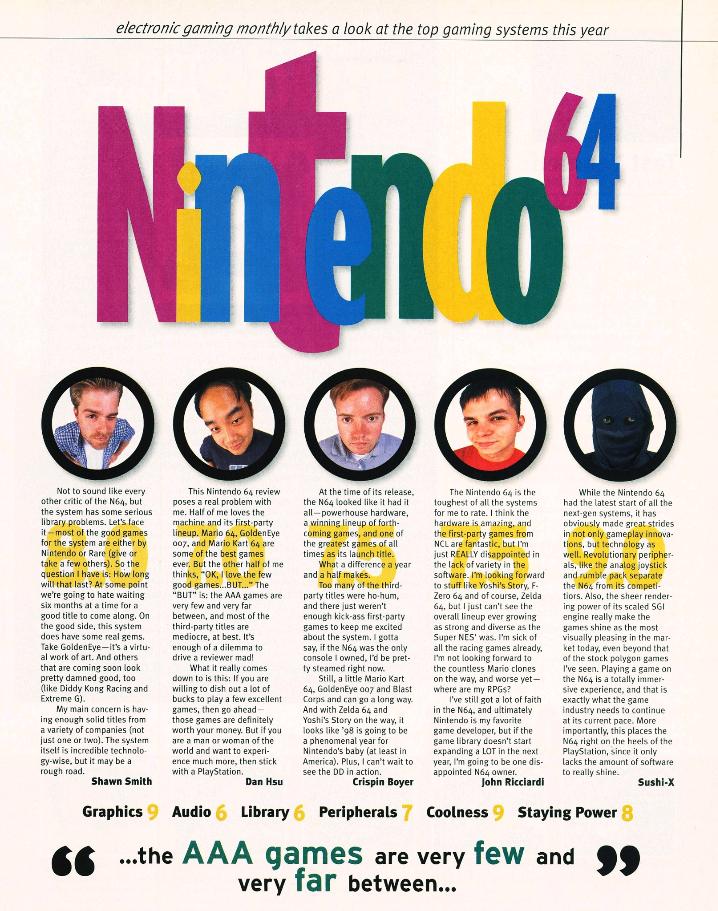 EGM Nintendo 64 buyers guide review