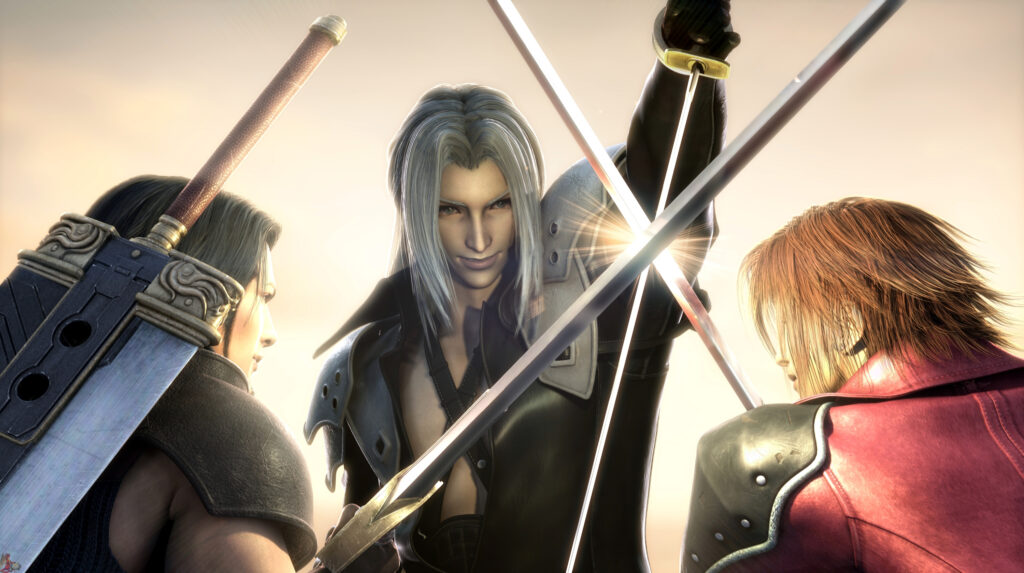 Sephiroth Angeal and Genesis Final Fantasy VII Crisis Core