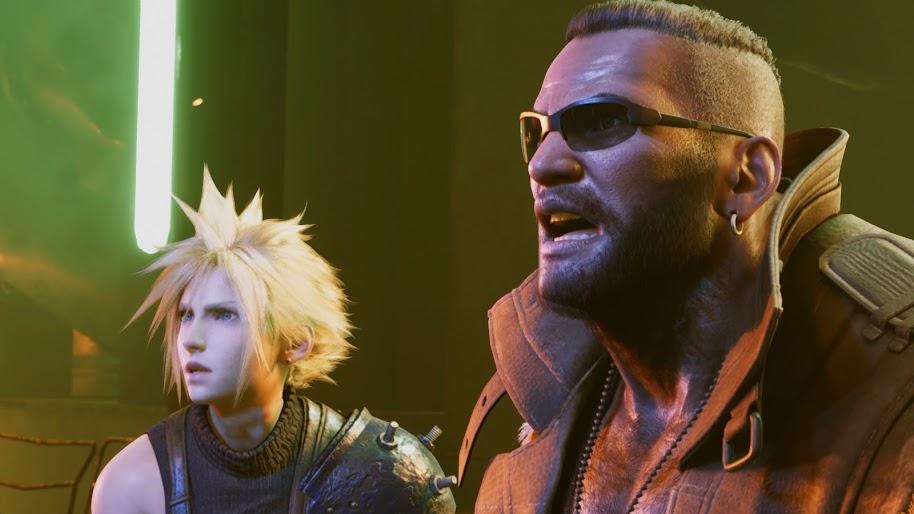 Barret and Cloud Final Fantasy VII