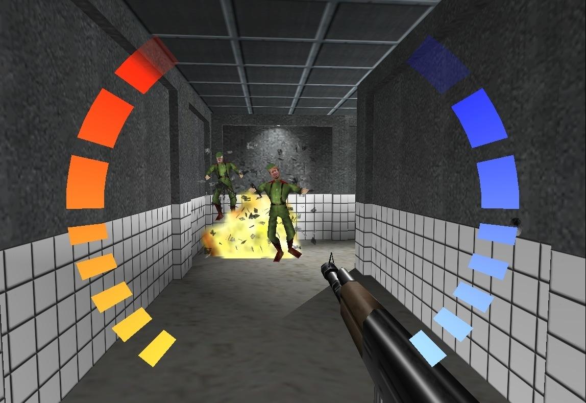 Golden Eye 007 explosion